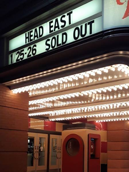 Wildey Theatre Marquee - Head East Sold Out Photo by Terra Hazelton